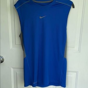 NIKE DRI-FIT MENS MUSCLE TANK ROYAL BLUE SMALL